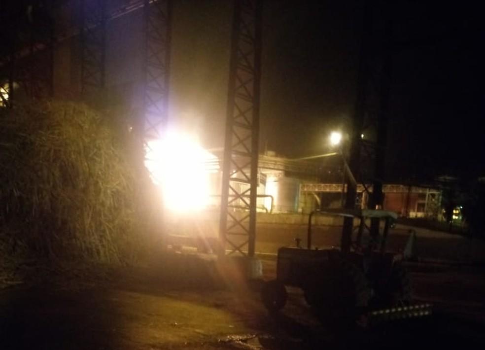 Tanque de etanol explode em usina de Potunduva, distrito de Jaú (Foto: Arquivo Pessoal)