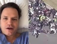 Ex-polegar Alan Frank fratura coluna em acidente em motociata de Bolsonaro