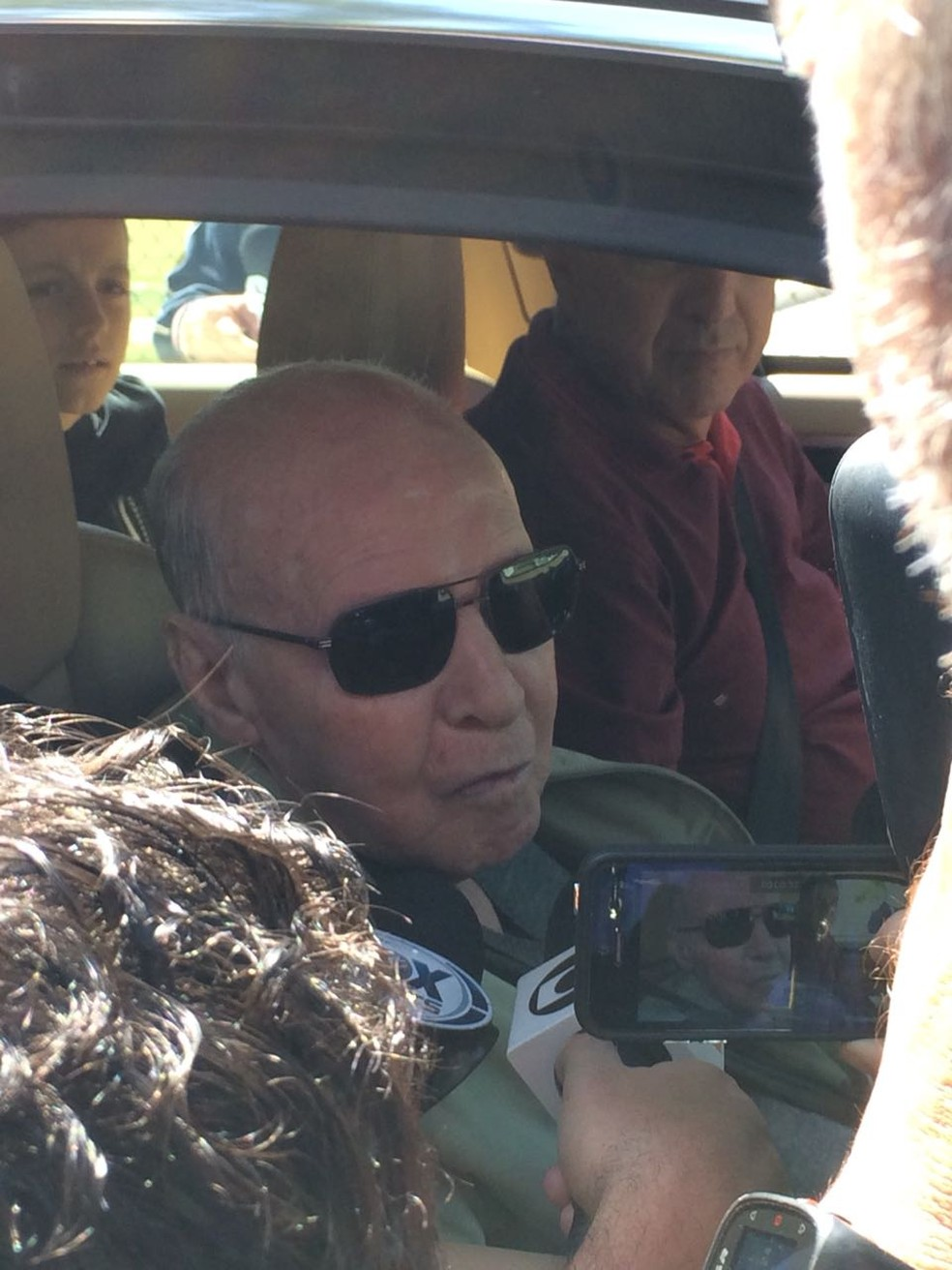 Zagallo chegou à Granja de carro na manhã desta quinta-feira (Foto: Victor Pozella)