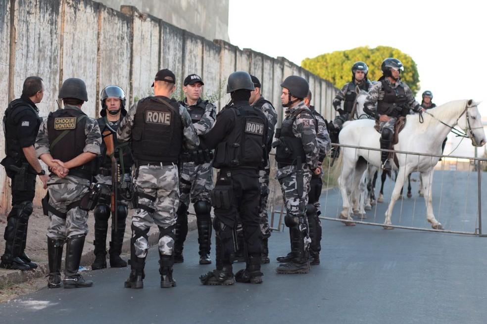 Operação Habitar na Casa de Custódia de Teresina (Foto: Divulgação/Sejus)