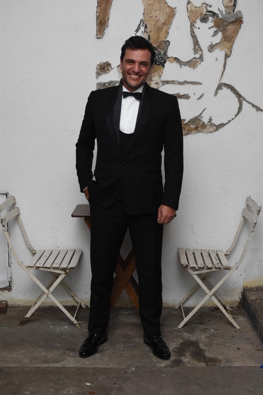 Rodirgo Lombarde durante o Esquenta GQ Brasil para o Baile da Vogue (Foto: Francio de Holanda)