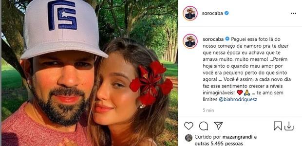 Sorocaba e Biah Rodrigues  (Foto: Reprodução/Instagram)