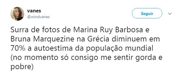 Internautas comentam férias de Marina Ruy Barbosa e Bruna Marquezine (Foto: Reprodução Instagram)