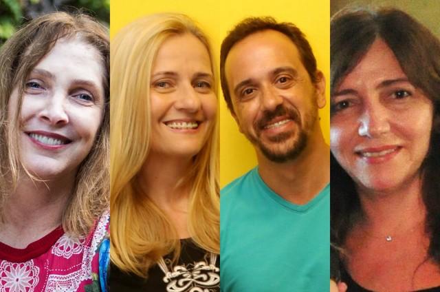 Adriana Falcão, Martha Mendonça, Nelito Fernandes e Jô Abdu (Foto: Bárbara Lopes, Marcos Ramos e TV Globo)
