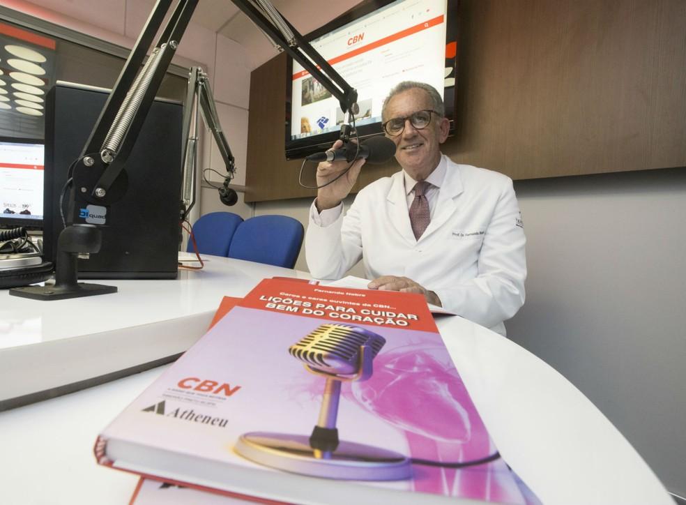 O cardiologista Fernando Nobre, colunista na CBN em Ribeirão Preto (SP)  (Foto: Matheus Urenha)