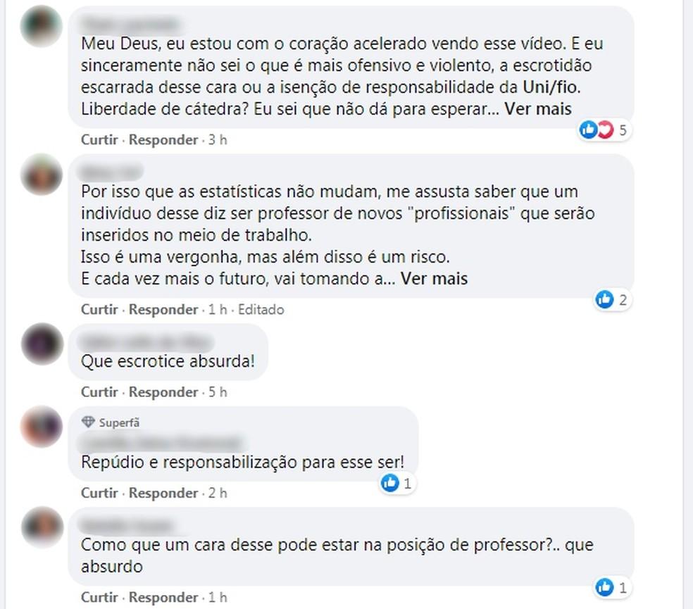 Declaração de professor em aula online em Ourinhos repercutiu nas redes sociais — Foto: Facebook/Reprodução