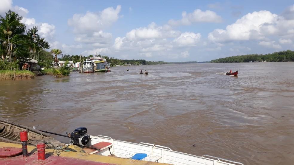 Salinização do Rio Amazonas dificulta o acesso de moradores à água potável — Foto: Josinaldo Souza/Arquivo Pessoal