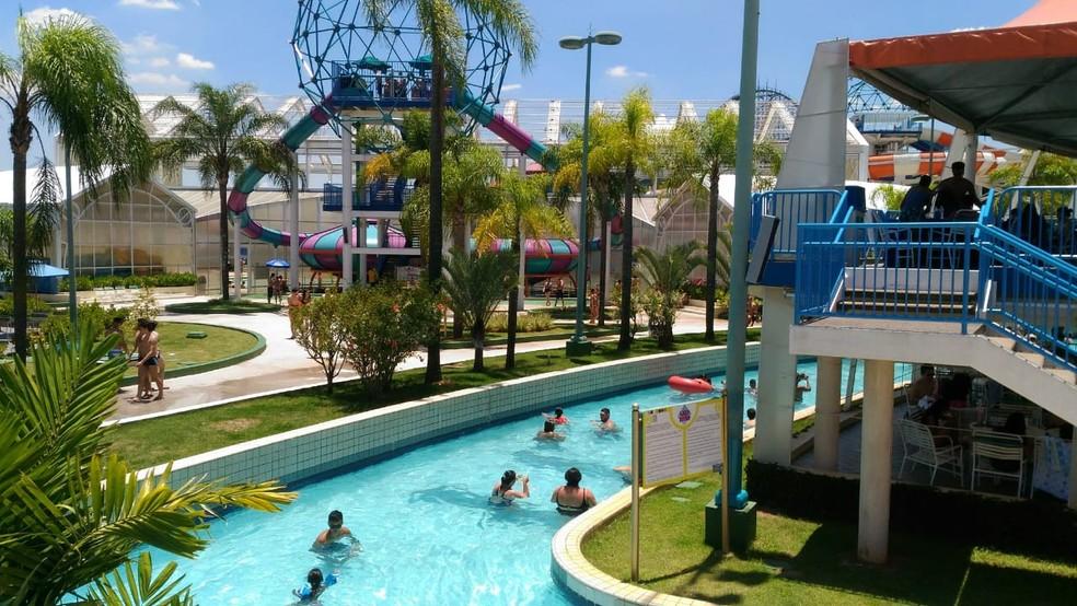 Parque aquático ficou fechado durante 190 dias por conta da pandemia do coronavírus — Foto: Eduardo Ribeiro Jr./G1