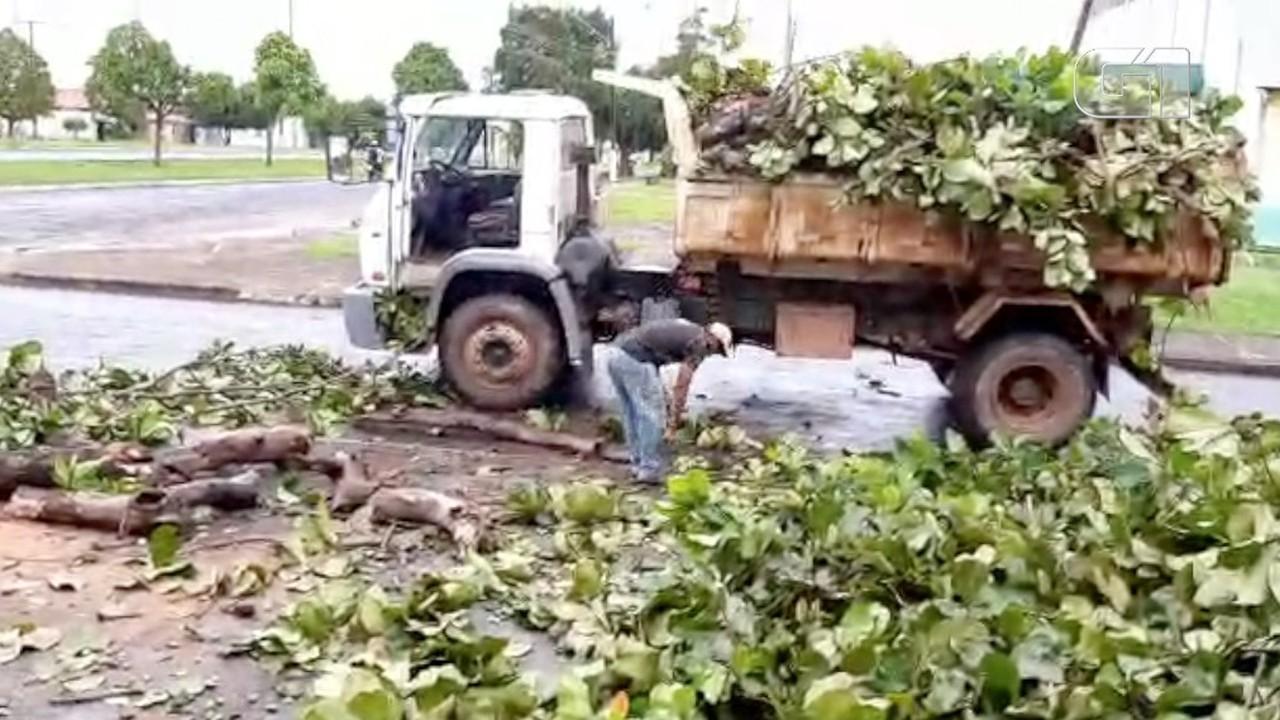 Tempestade causa destruição no município de Pequizeiro