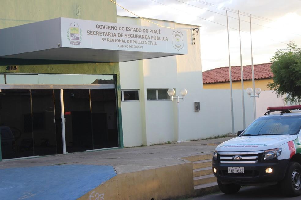Delegacia regional de Campo Maior, no Piauí — Foto: Patrícia Andrade/G1