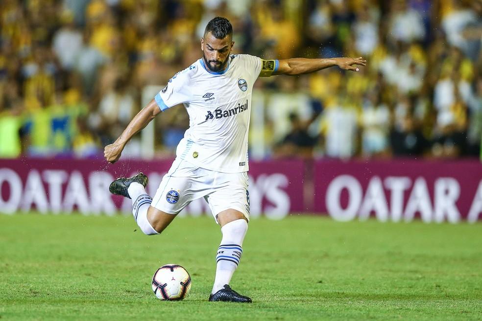 Maicon reconhece caráter decisivo do jogo na Libertadores — Foto: Lucas Uebel/DVG/Grêmio