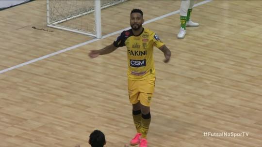 Os gols de Jaraguá 4 x 1 Cascavel pela Liga Nacional de Futsal