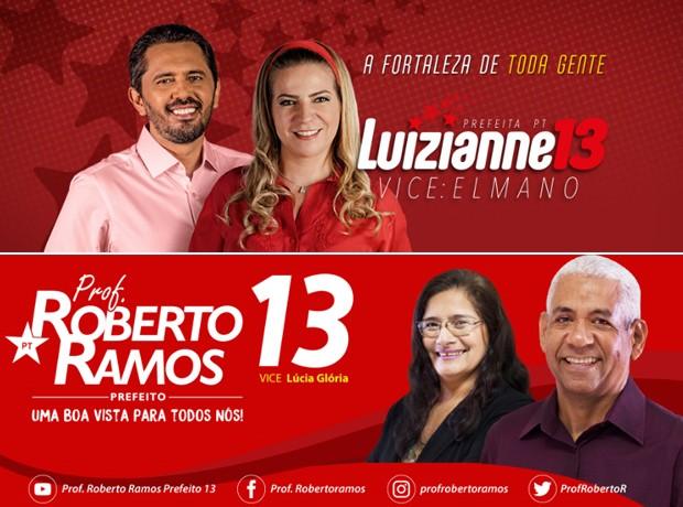 Outros candidatos do partido mantêm as cores e o logo (Foto: Reprodução)