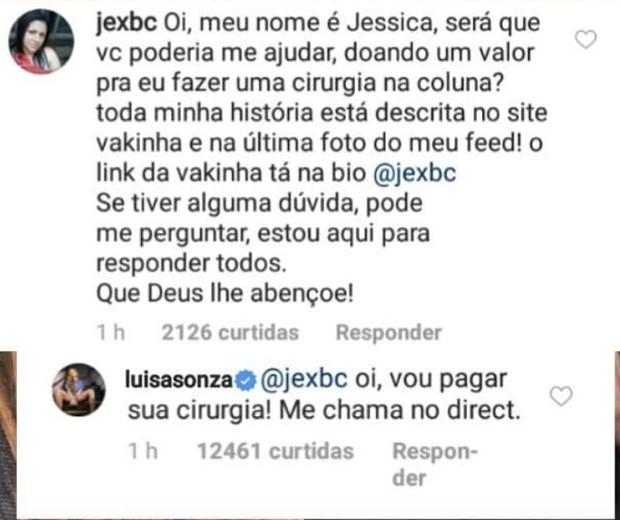 Luísa Sonza promete pagar cirurgia de seguidora (Foto: Reprodução/Instagram)