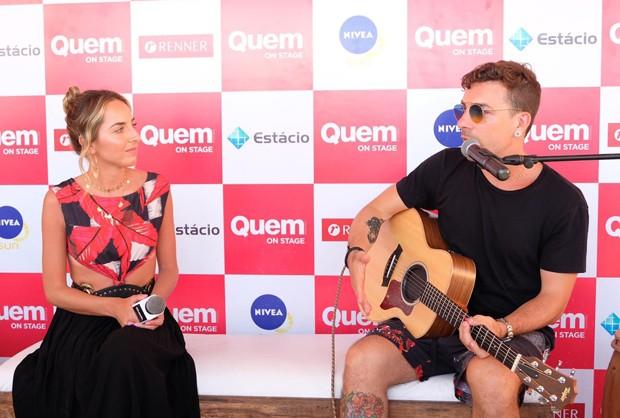 A repórter de QUEM, Giulianna Campos e Di Ferrero  (Foto: Renato Wrobel/Ed. Globo)