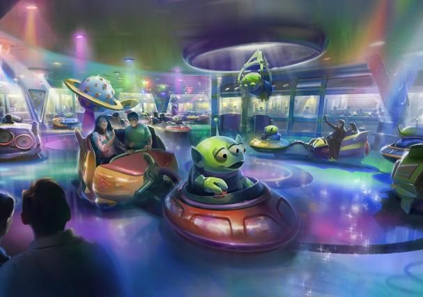 Atração Alien Swirling Saucers, no Disney's Hollywood Studios (Foto: Divulgação/Disney)