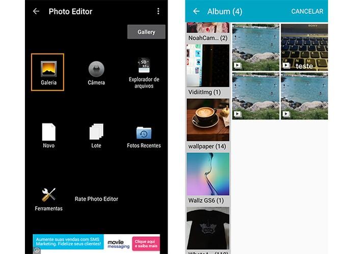 Selecione a foto na galeria do Android (Foto: Reprodução/Barbara Mannara)