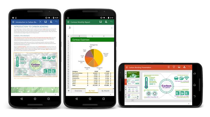 Preview do Office para smartphones com Android foi lançado hoje (Foto: Divulgação)