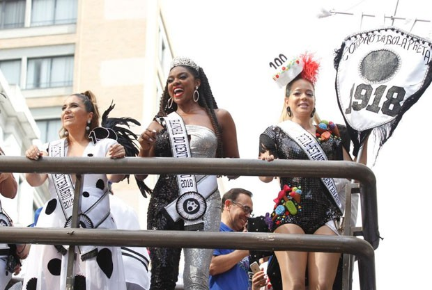 Maria Rita, Cris Vianna e Leandra Leal no Cordão da Bola Preta (Foto: AgNews)
