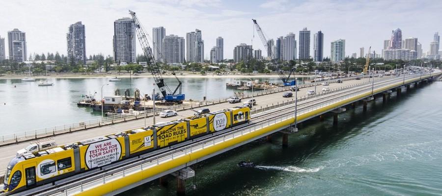 Linha de trem da Shangai Keolis, empresa que inaugurou linha autônoma no transporte público (Foto: Divulgação Shanghai Keolis)