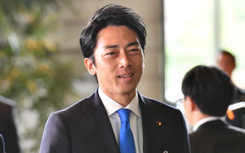 O recém-nomeado ministro do Meio Ambiente Shinjiro Koizumi, filho do ex-premiê Junichiro Koizumi — Foto: Toshifumi Kitamura / AFP Photo