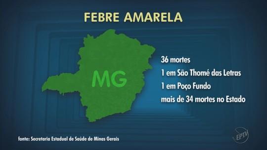 Turista de SP que visitou São Tomé das Letras é 2º caso de morte por febre amarela confirmado no Sul de MG