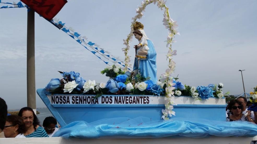 Festa de Nossa Senhora dos Navegantes em Presidente Epitácio (Foto: Heloise Hamada/TV Fronteira)