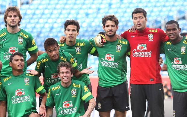 Julio Cesar treino Seleção Brasileira Boston (Foto: Mowa press)