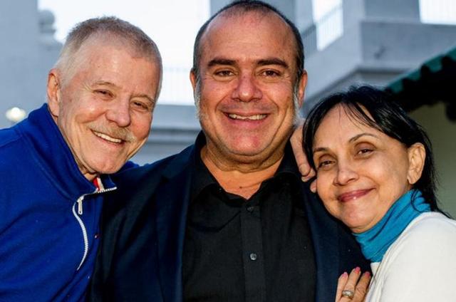 Miguel Falabella, André Mattos e Cininha de Paula (Foto: Arquivo pessoal)