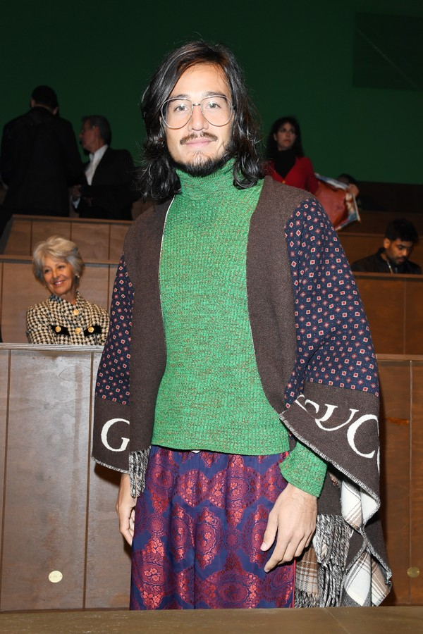 MILAN, ITALY - JANUARY 14: Tiago Iorc is seen on Gucci Front Row during Milan Meanswear Fashion Week Fall/Winter 2020/21 on January 14, 2020 in Milan, Italy. (Photo by Daniele Venturelli/Daniele Venturelli / Getty Images for Gucci) (Foto: Daniele Venturelli / Getty Image)