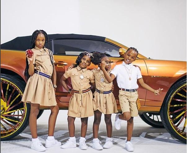 Vida de luxo e muita ostentação: filhos de Cordero posam em frente a carro milionário (Foto: Reprodução Instagram)