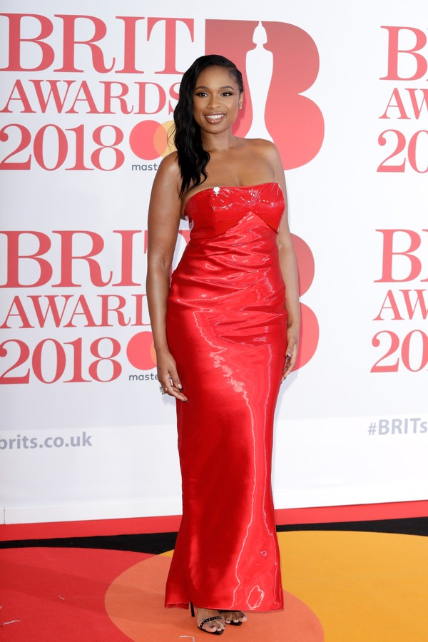 LONDON, ENGLAND - FEBRUARY 21:  *** EDITORIAL USE ONLY IN RELATION TO THE BRIT AWARDS 2018***  Jennifer Hudson attends The BRIT Awards 2018 held at The O2 Arena on February 21, 2018 in London, England.  (Photo by John Phillips/Getty Images) (Foto: Getty Images)