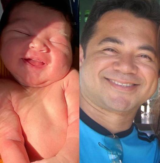 Lucas Veloso e o avô, Shaolin (Foto: Reprodução)
