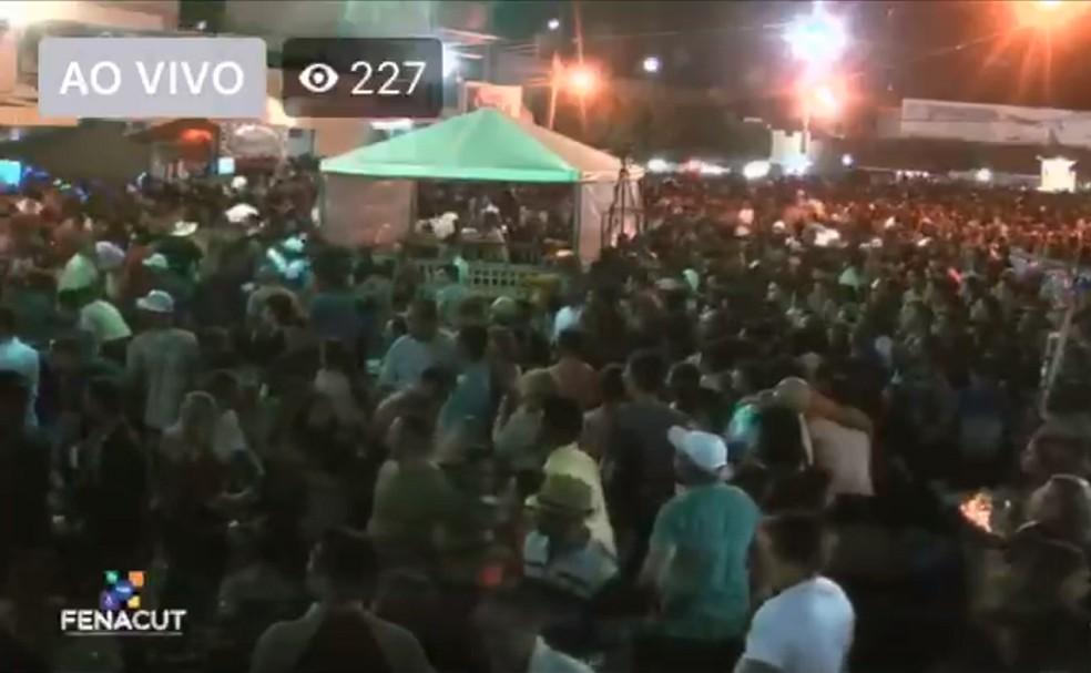 Tiroteio provocou correria em Luis Gomes, no interior do RN  — Foto: Reprodução/Vídeo