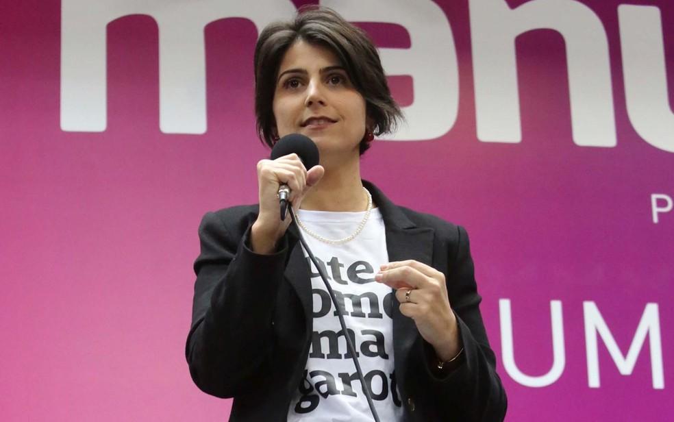 PC do B oficializa candidatura de Manuela D'Ávila à Presidência (Foto: Fátima Meira / Futura Press / Estadão Conteúdo)