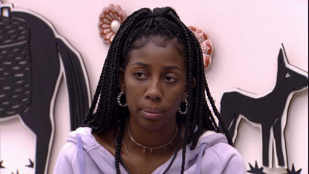 Camilla de Lucas declara sobre postura de sister no BBB21: 'Chata' — Foto: Globo