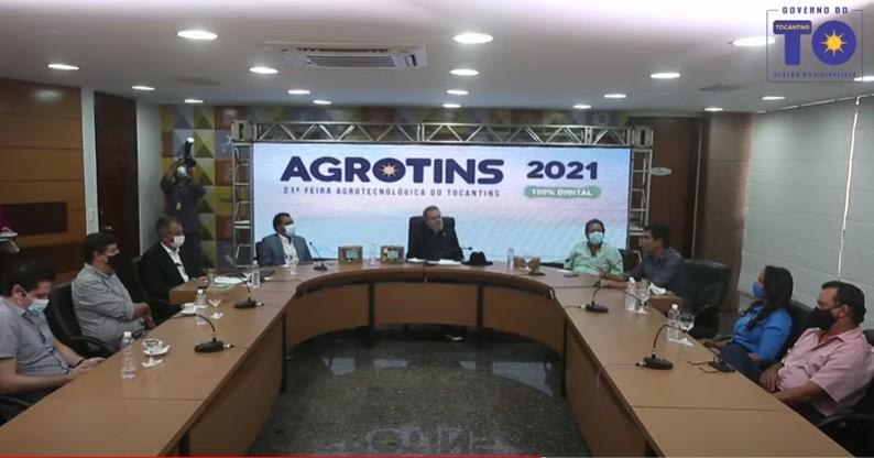 Governo faz lançamento da Agrotins 2021; evento terá 8h por dia de palestras e exposições
