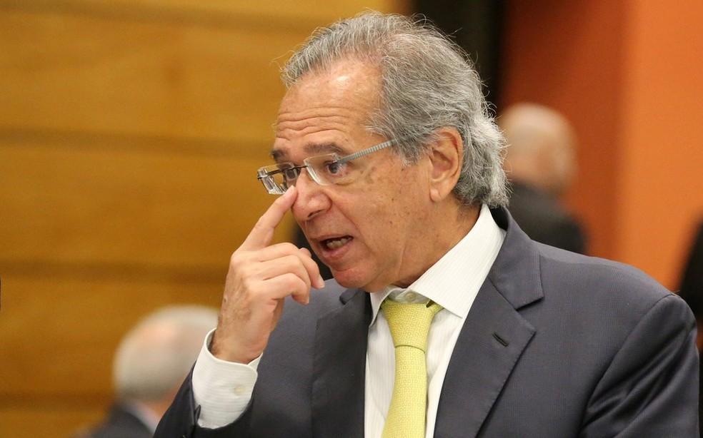 Paulo Guedes, em imagem de 6 de agosto, na sede da Federação das Indústrias do Rio de Janeiro  — Foto: Sergio Moraes/Reuters