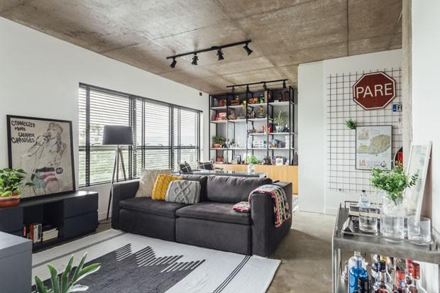 Apartamento jovem de 46 m² tem ambientes multifuncionais (Foto: Cristiano Bauce)