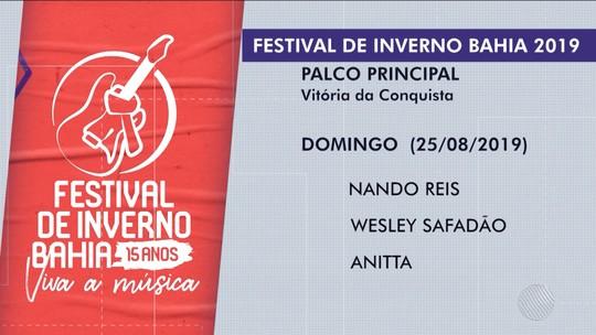 Anitta, Ivete e Safadão são confirmados no Festival de Inverno 2019 em Vitória da Conquista; confira atrações