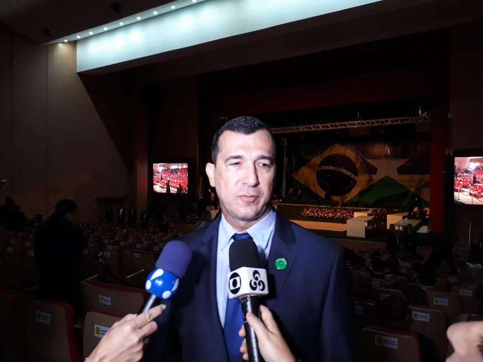 José Hélio Cysneiros Pachá, novo secretário da Sesdec.  — Foto: Pedro Bentes/G1