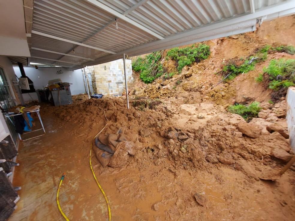 Deslizamento em Jaraguá do Sul — Foto: Prefeitura de Jaraguá do Sul/Divulgação