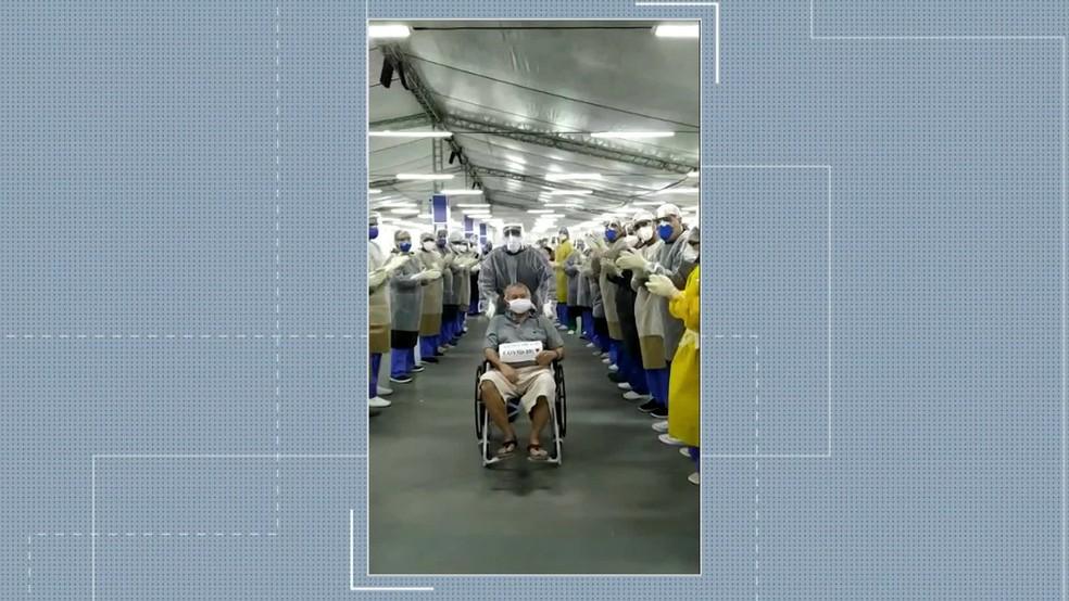 Recife tem milésimo paciente curado em hospitais de campanha da prefeitura — Foto: Reprodução/TV Globo