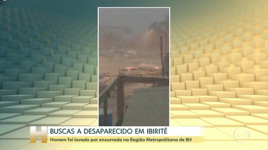 Bombeiros buscam homem que desapareceu durante temporal