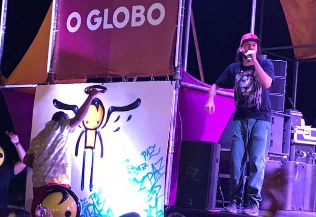 Gabriel O Pensador se apresenta no Fica Verão (Foto: QUEM)
