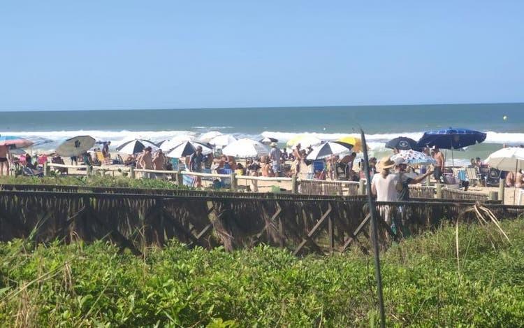 SC registra descumprimento de regras contra a Covid-19 em praias e estabelecimentos