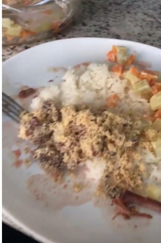 Prato de David Brazil em churrasco da Anitta (Foto: Reprodução/Instagram)