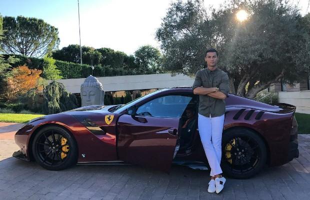 Ferrari F12 TDF de Cristiano Ronaldo (Foto: Instagram / @cristiano)
