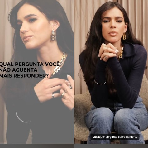 Bruna Marquezine diz que não aguenta mais falar sobre namoro (Foto: Reprodução)