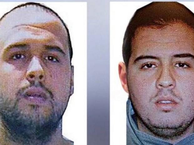 Khalid e Ibrahim foram identificados como os dois suicidas que fizeram o atentado no aeroporto e no metrô, em Bruxelas, na segunda-feira (22) (Foto: Reprodução RTBF/Interpol)